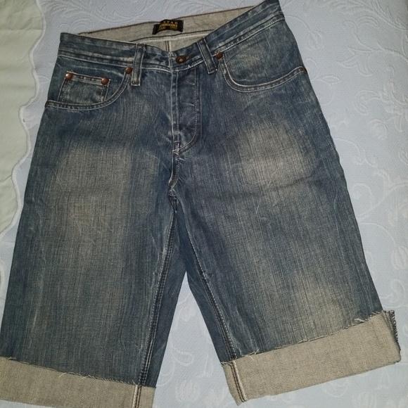 01d0727f233 G-Star Jeans | Raw Gstar Denim Jean Shorts With Leather Logo | Poshmark
